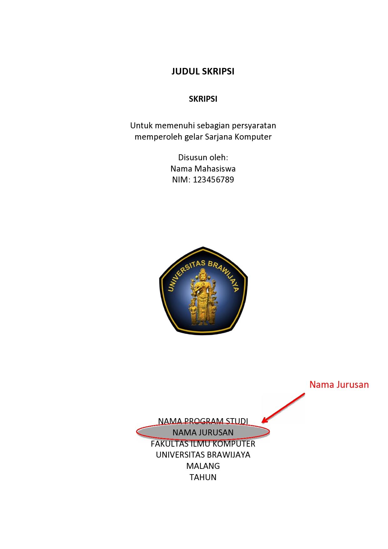 Template Baru Skripsi Dan Thesis Filkom Ub Teknik Informatika