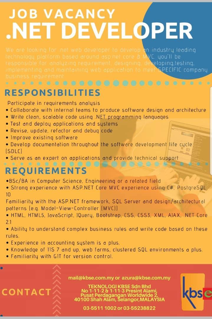 03_loker_net_developer_Teknologi_KBSE_Sdn_Bhd