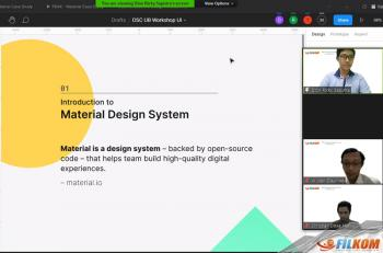Workshop Implementasi Material Design Menggunakan